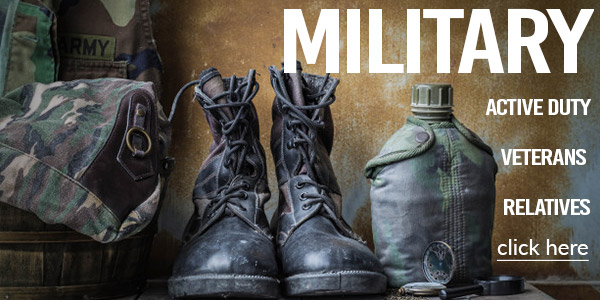 Active Duty & Retired Service personnel Military discount
