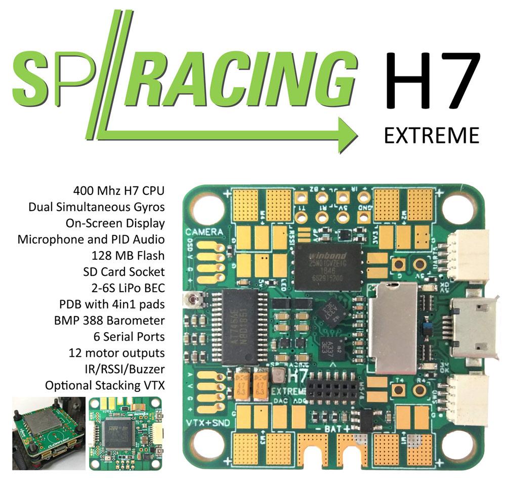 SP Racing H7 400Mhz EXTREME Dual Gyro Flight Controller