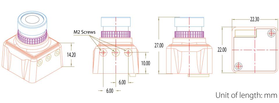 RunCam Swift Mini 2 - JohnnyFPV Edition - 600TVL CCD FPV Camera 2 1mm